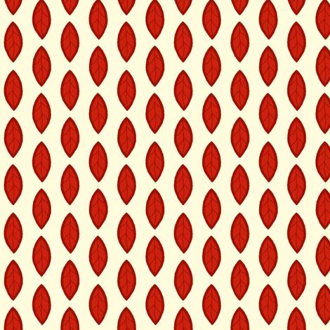 Red Leaf fabric by cksstudio80 on Spoonflower - custom fabric