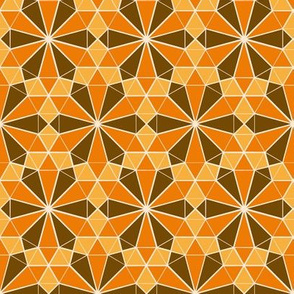 Repeating Colorful Circle Design - Yellow Orange and Brown