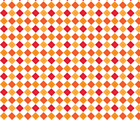 oranges-wonky_argyle fabric by terriaw on Spoonflower - custom fabric