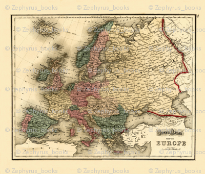 1874 Map of Europe by gray