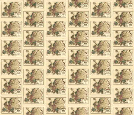 1874 Map of Europe by gray fabric by zephyrus_books on Spoonflower - custom fabric