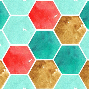 Texas Modern Honeycomb Turquoise