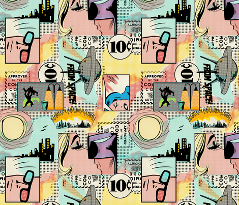 Comic Books fabric by thirdhalfstudios on Spoonflower - custom fabric