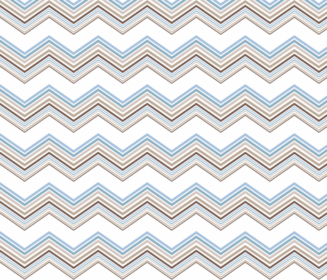 Blue_chevron fabric by designedtoat on Spoonflower - custom fabric
