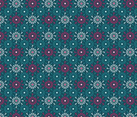 StorkFlower fabric by adèle_de_la_cigogne on Spoonflower - custom fabric