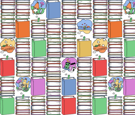 Books_and_Bookworms fabric by walkathon on Spoonflower - custom fabric