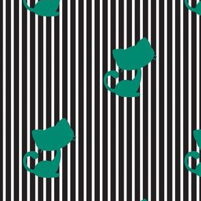 Cats and Stripes - Black
