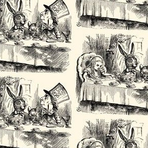 Alice and the Mad Hatter's Tea Party, illustration by John Tenniel