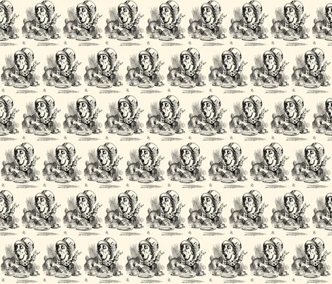 The Mad Hatter engaging in rhetoric, illustration by John Tenniel fabric by zephyrus_books on Spoonflower - custom fabric