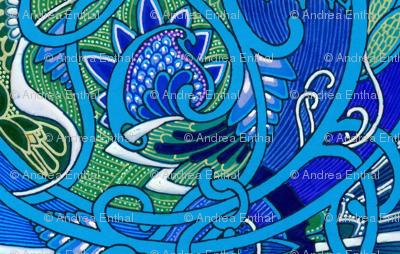 Atomic Mushroom Paisley in Blue