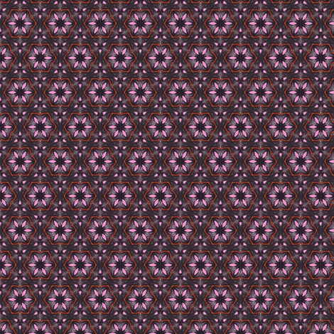 Blackflower fabric by siya on Spoonflower - custom fabric