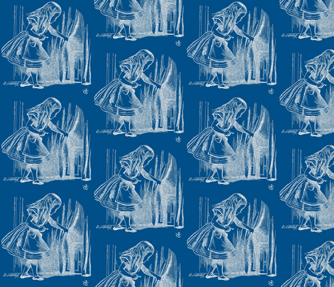 Alice Looking for the Door fabric by zephyrus_books on Spoonflower - custom fabric
