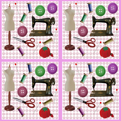 ABC Essentials of Sewing  fabric by nezumiworld on Spoonflower - custom fabric