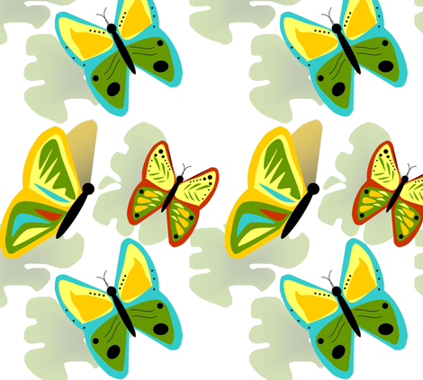 KRZBUTTERFLY fabric by sewbiznes on Spoonflower - custom fabric
