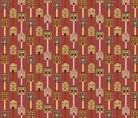 Minoan house stripes  fabric by su_g on Spoonflower - custom fabric