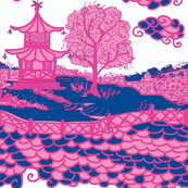 Cloud_Pagoda-Navy/Magenta