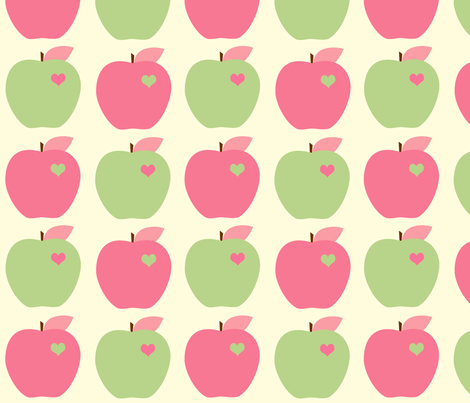 Apples and Lime fabric by anikabee on Spoonflower - custom fabric