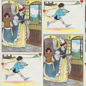 Mother Goose Nursery Rhyme - Hearts and Tarts - Queen and Knave