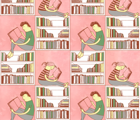 We love reading fabric by liina_koskaru on Spoonflower - custom fabric
