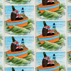 Mother Goose Nursery Rhyme Three wise men of Gotham - Three men in a tub