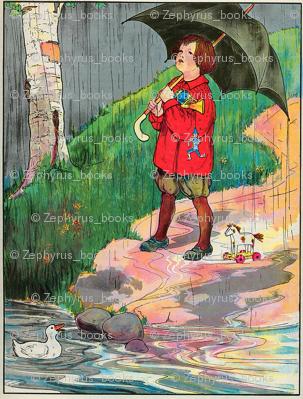 Mother Goose Nursery Rhyme Rain, rain, go away, Come again another day
