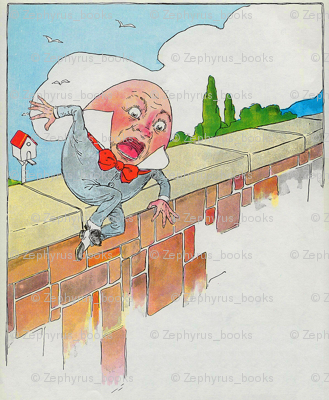 Mother Goose Nursery Rhyme Humpty Dumpty sat on a wall