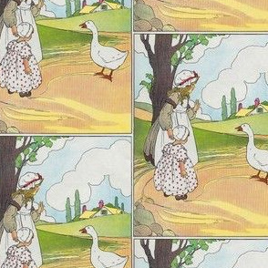 Mother Goose Nursery Rhyme Goosey, goosey, gander, Whither dost thou wander