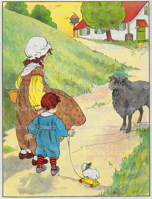 Mother Goose Nursery Rhyme Baa, baa, black sheep, Have you any wool
