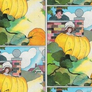 Mother Goose Nursery Rhyme Peter, Peter, pumpkin-eater, Had a wife and couldn't keep her