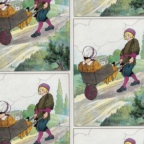 Mother Goose Nursery Rhyme The wife in the wheelbarrow