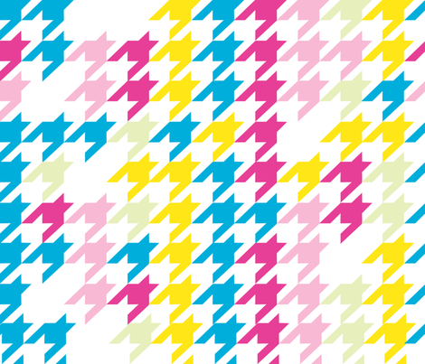 Houndstooth Brights fabric by kfay on Spoonflower - custom fabric