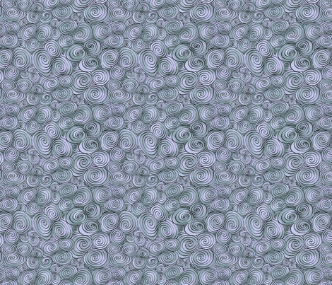 Celtic Tri-Spiral silver small fabric by cherryandcinnamon on Spoonflower - custom fabric