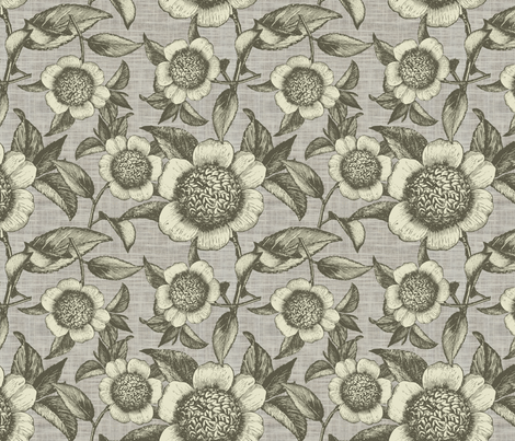 Camelia organica fabric by brainsarepretty on Spoonflower - custom fabric