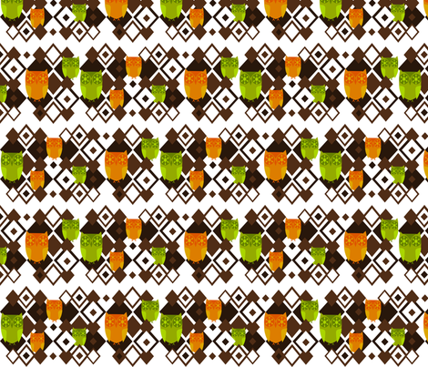 Geometic Owls fabric by ninjaauntsdesigns on Spoonflower - custom fabric