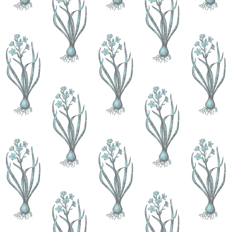 The Delicate Onion Bleu fabric by brainsarepretty on Spoonflower - custom fabric