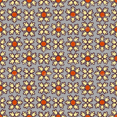 Red and Gray Floral Coordinate  ©2012 by Jane Walker
