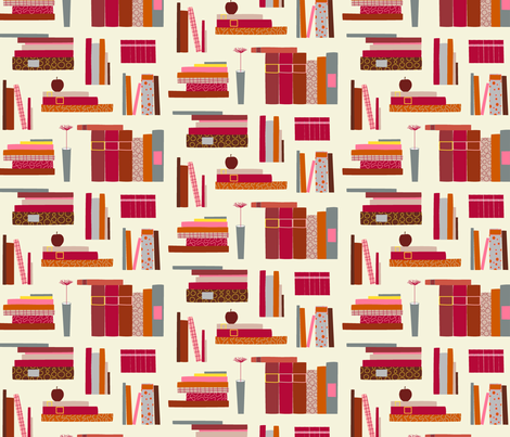 Book Love fabric by lauriebaars on Spoonflower - custom fabric