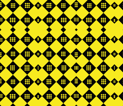 diamondblackyellow fabric by kali_d on Spoonflower - custom fabric