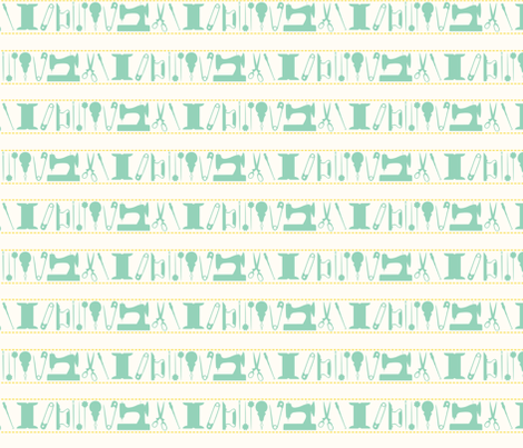 tools_stripes_green fabric by natasha_k_ on Spoonflower - custom fabric