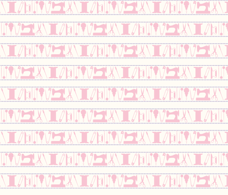 tools_stripes_pink fabric by natasha_k_ on Spoonflower - custom fabric