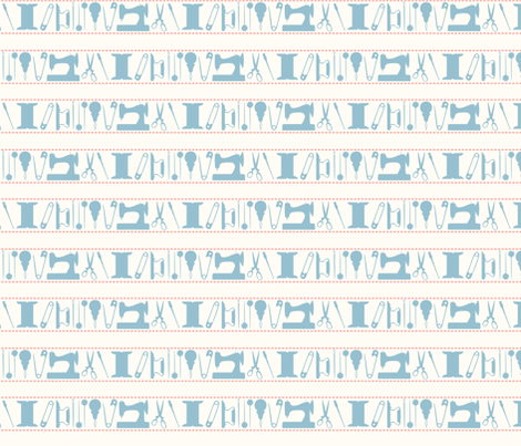 tools_stripes_blue fabric by natasha_k_ on Spoonflower - custom fabric