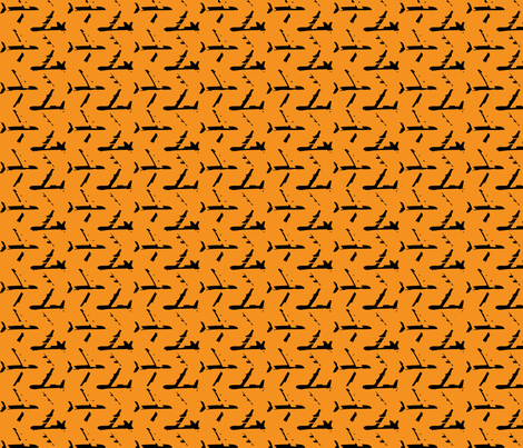 Orange_Planes fabric by toothpanda on Spoonflower - custom fabric
