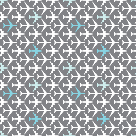 Small Blue Planes fabric by toothpanda on Spoonflower - custom fabric