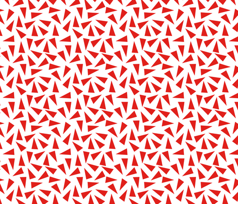 Triangles_red fabric by alihenrie on Spoonflower - custom fabric