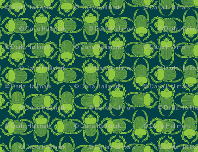 bright green beetles