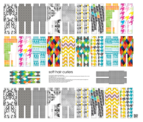 Hair Curlers fabric by kfay on Spoonflower - custom fabric