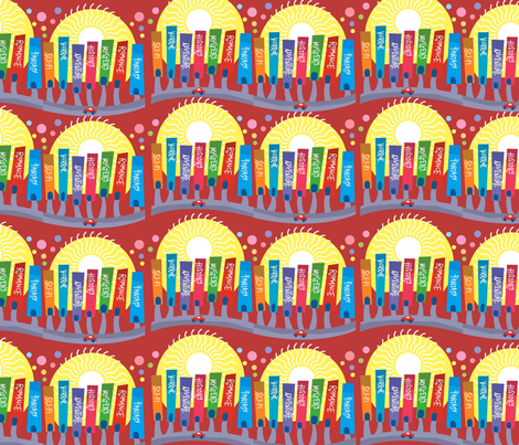 Celebrate Books fabric by scifiwritir on Spoonflower - custom fabric