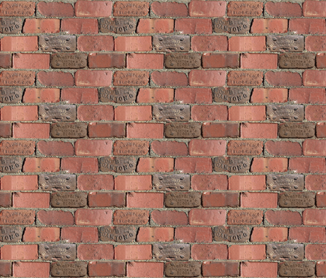 Bricks Pattern - Small - Repeating Red Clay Bricks fabric by zephyrus_books on Spoonflower - custom fabric