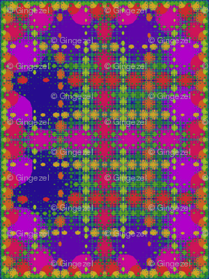 Berry Fractal Plaid © Gingezel™ 2013