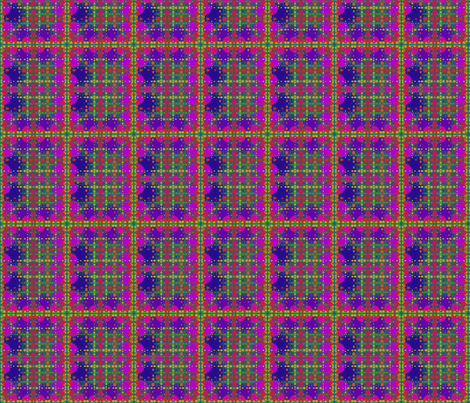Berry Fractal Plaid © Gingezel™ 2013 fabric by gingezel on Spoonflower - custom fabric
